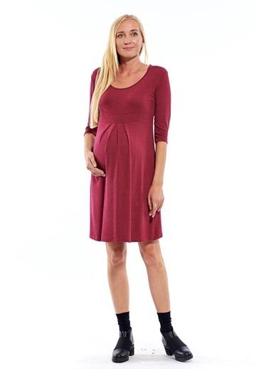 Motherway Maternity Elbise Bordo